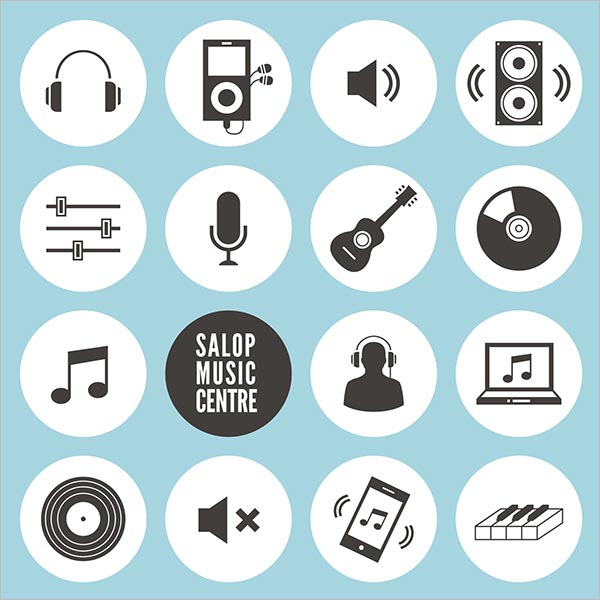 Music icon template