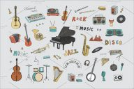 Musical Instruments Background Desing