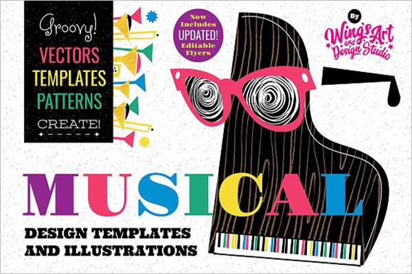 Musical Instruments Vector Design