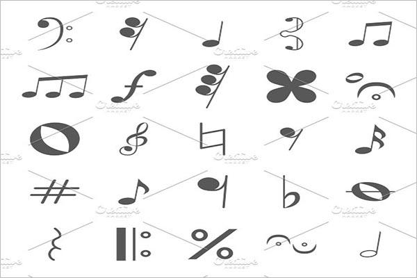 Musical Notes Icon Design