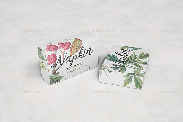 Napkin Box Mockup Template