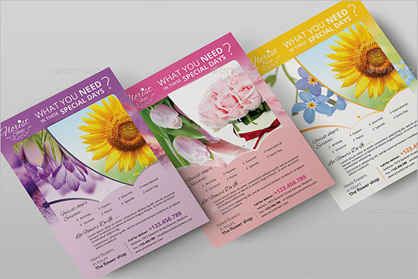 New Florist Shop Flyer Template
