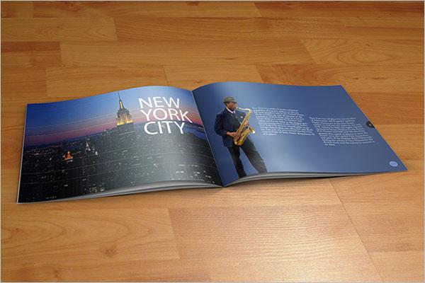 New York City Travel Brochure Design