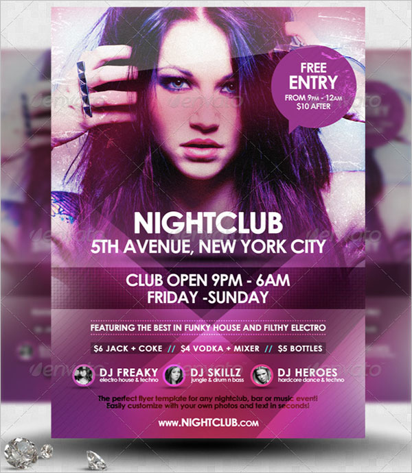 Night Event Flyer Template