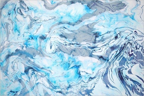 Oceanic Marble Background Design