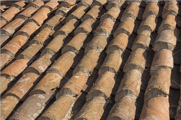 Old Terracotta Roof Texture