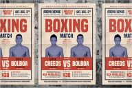 Old Vintage Boxing Flyer