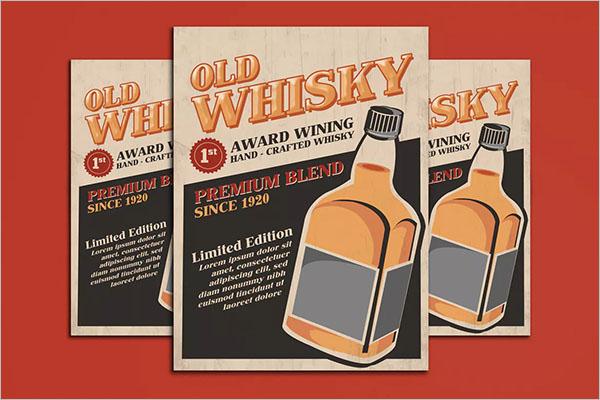 Old Whisky Poster Design