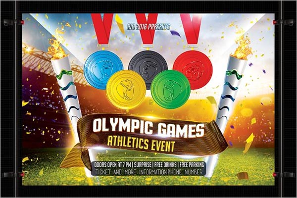 Olympic Games Flyer Design