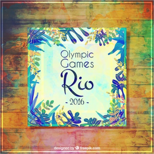 Olympic Games Flyer Free Vector