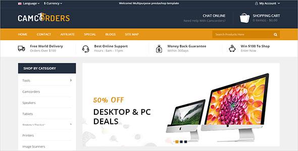 OpenCart Electronics Store Theme