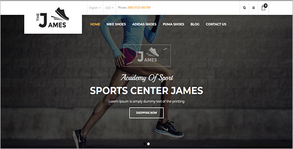 Opencart Shoes Store Theme