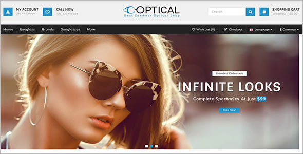 Optical Store OpenCart Template