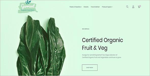 Organic Food Magento Theme
