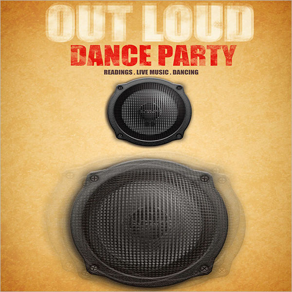 Out Loud Dance Party Poster Design