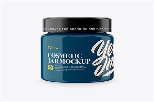 Paint Cosmetic Jar Mock-up