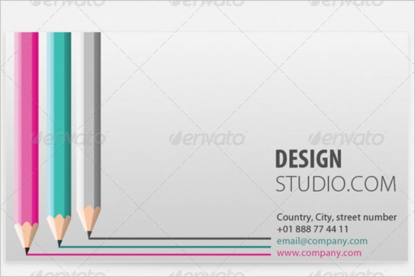Pencil Business Cards for Artist