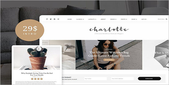 Personal Blog Woocommerce Theme