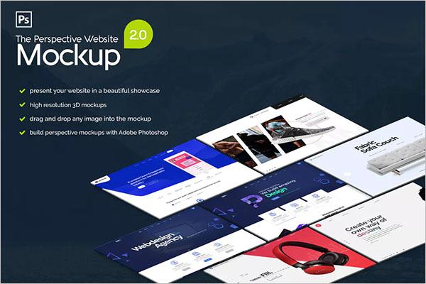 Pespective Website Mockup 2.0