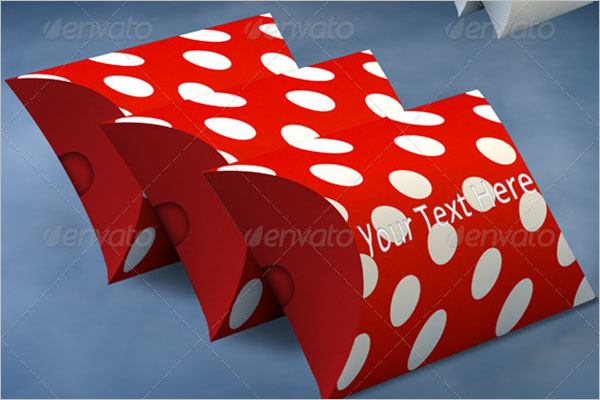 Pillow Box Mockup Design