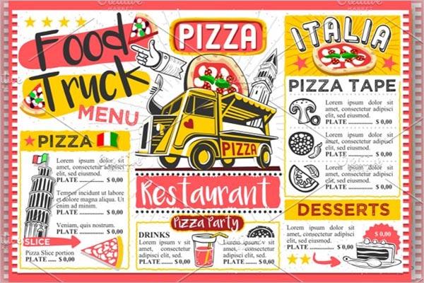 Pizza Food Truck Flyer Design