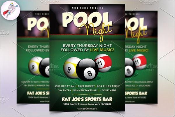 Pool Night Flyer Template