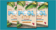 Pool Party Flyer Designs