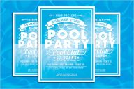 Pool Party Flyer Template PSD