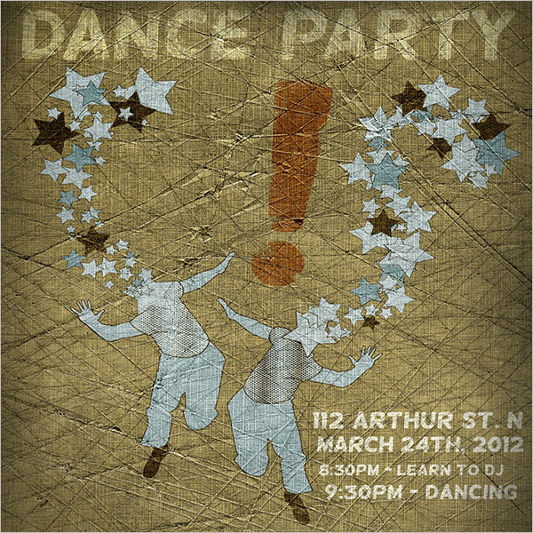 Poster For House Dance Party