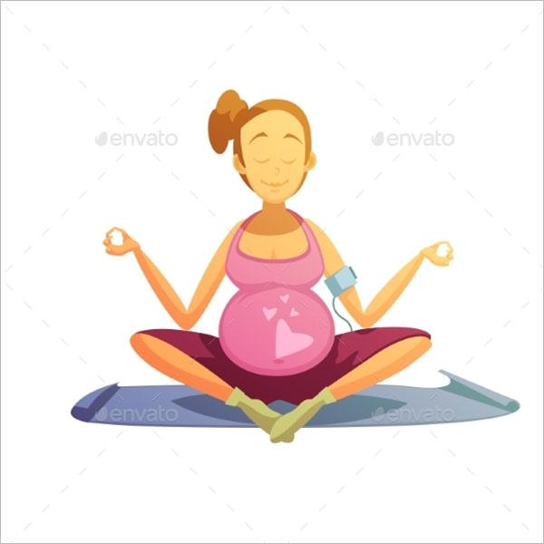 Pregnancy Yoga Poster Design