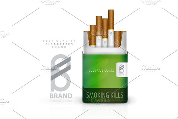 Premium Cigarette Pack Template
