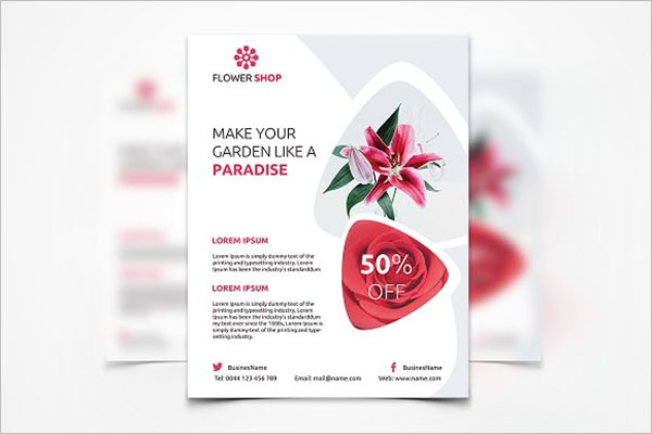 Premium Flower Shop Flyer Design