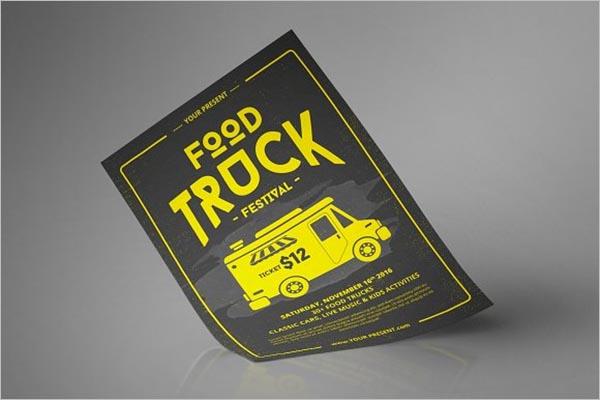 Premium Food Truck Flyer Design
