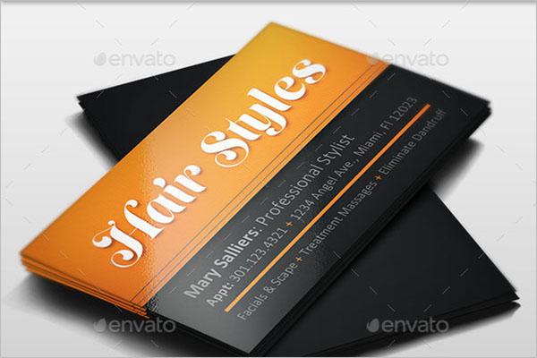 Premium Hair Stylist Business Card Template