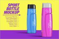 Premium Sports Bottle Mockup