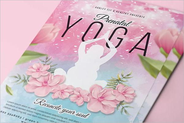 Prenatal Yoga Poster Design