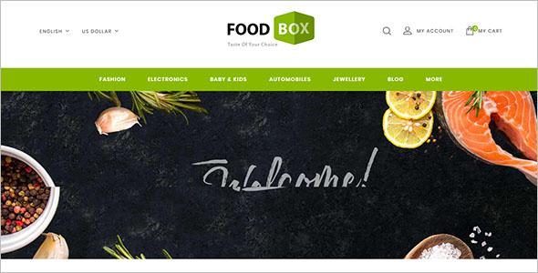 Prestashop Restaurant Template
