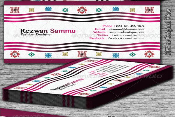 Printable Boutique Business Card