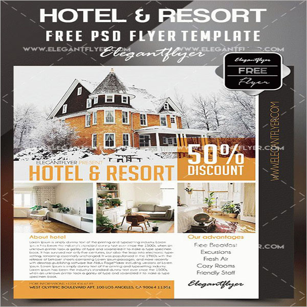 Printable Flyer For Hotel & Resorts