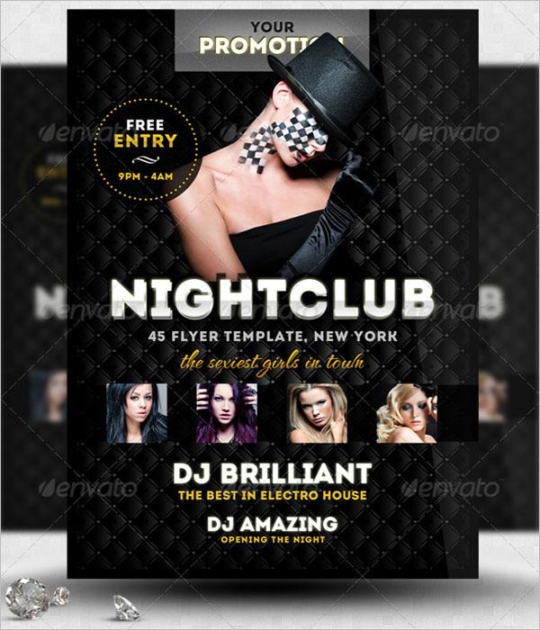 Printable Nightclub Flyer Template