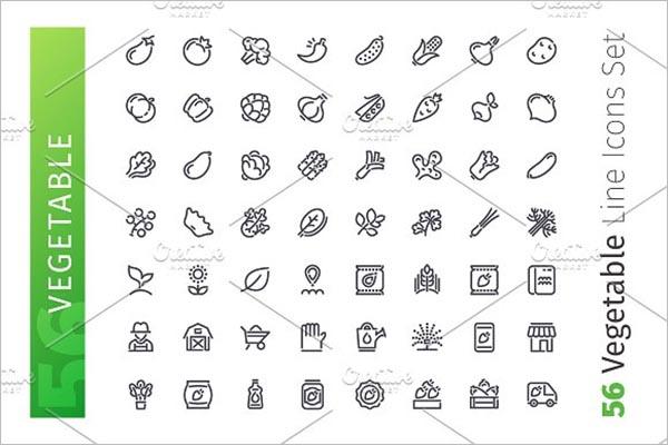 PrintableVegetable Icon Design