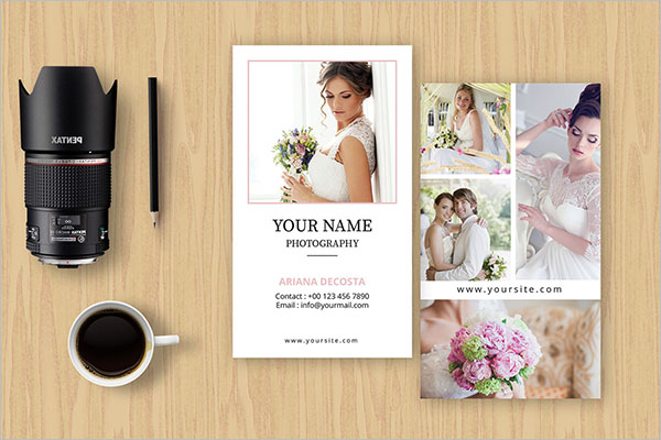 Printable Wedding Business Card Template