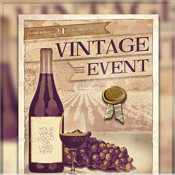 Printable Wine Flyer Design