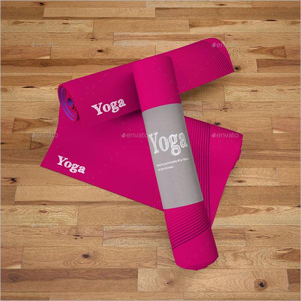 Printed Yoga Mat Mockup Design
