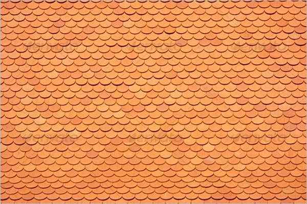 Red Tiles Roof Texture
