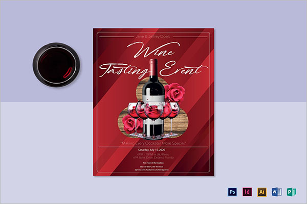 Red Wine Tasting Flyer Template