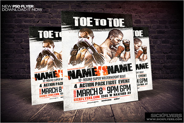Responsive Boxing Flyer Template