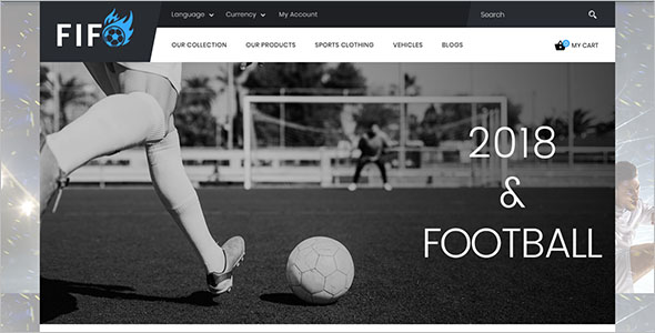 Responsive Sport Store OpenCart Theme