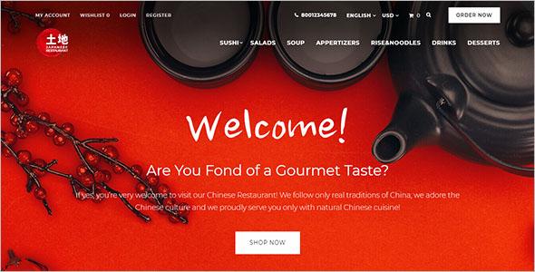 Restaurant OpenCart Template
