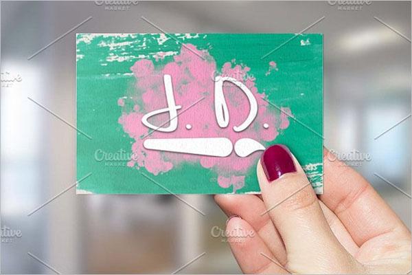 Retro Artistic Business Card Design